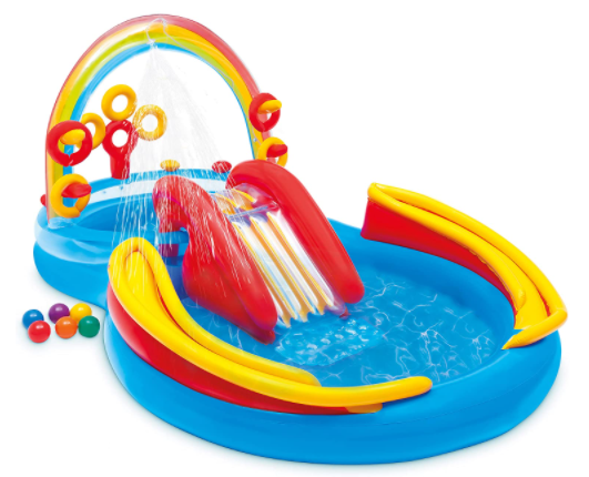 1. Intex Rainbow Ring Inflatable Play Center