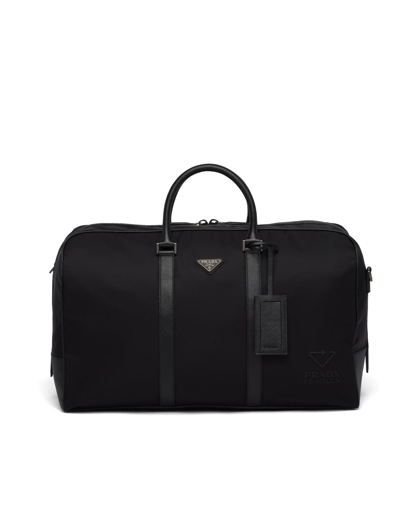 3. PRADA : Re-Nylon and Saffiano leather travel bag