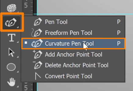 Select the Curvature Pen tool