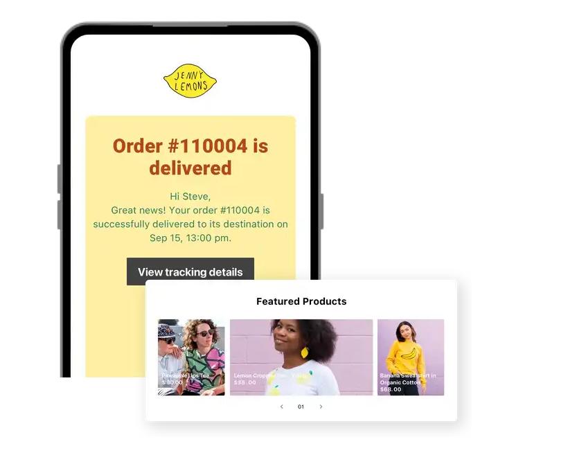 Jenny Lemons's branded tracking page