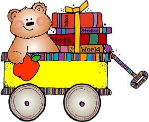 bear in wagon