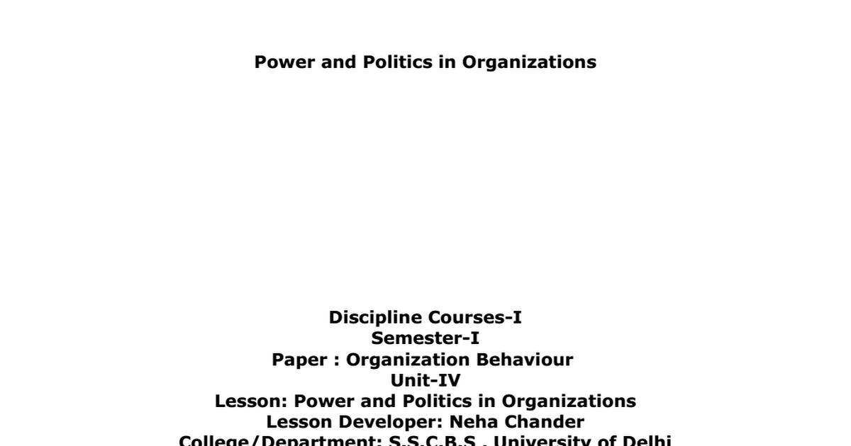 Power and Politics in Organizations pdf - Google Drive