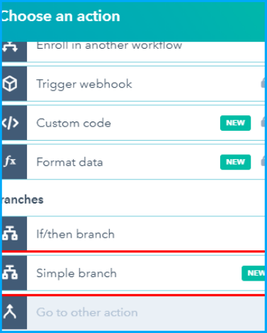 Simple Branch in Workflows