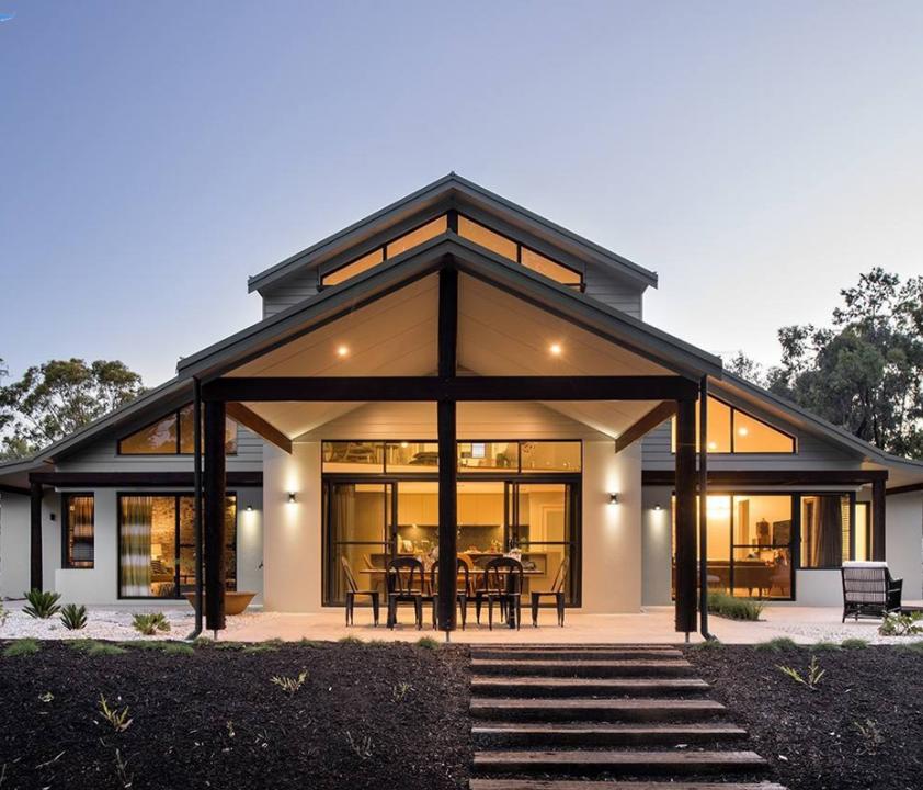 Nhà khung thép với thiết kế đơn giản hiện đại