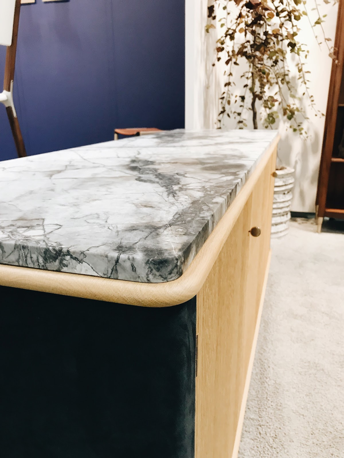 ICFF international contemporary design furniture fair marble console top veining