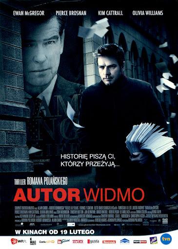Przód ulotki filmu 'Autor Widmo'