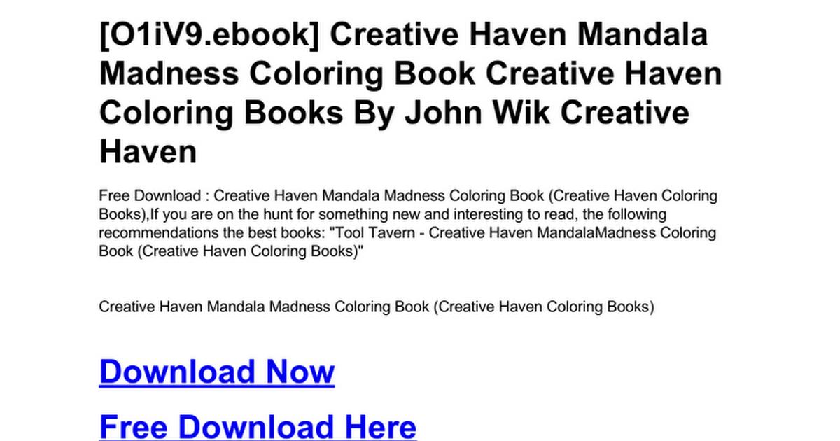 Creative Haven Mandala Madness Coloring Book Booksdoc