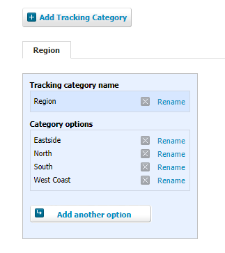 Tracking category graphic