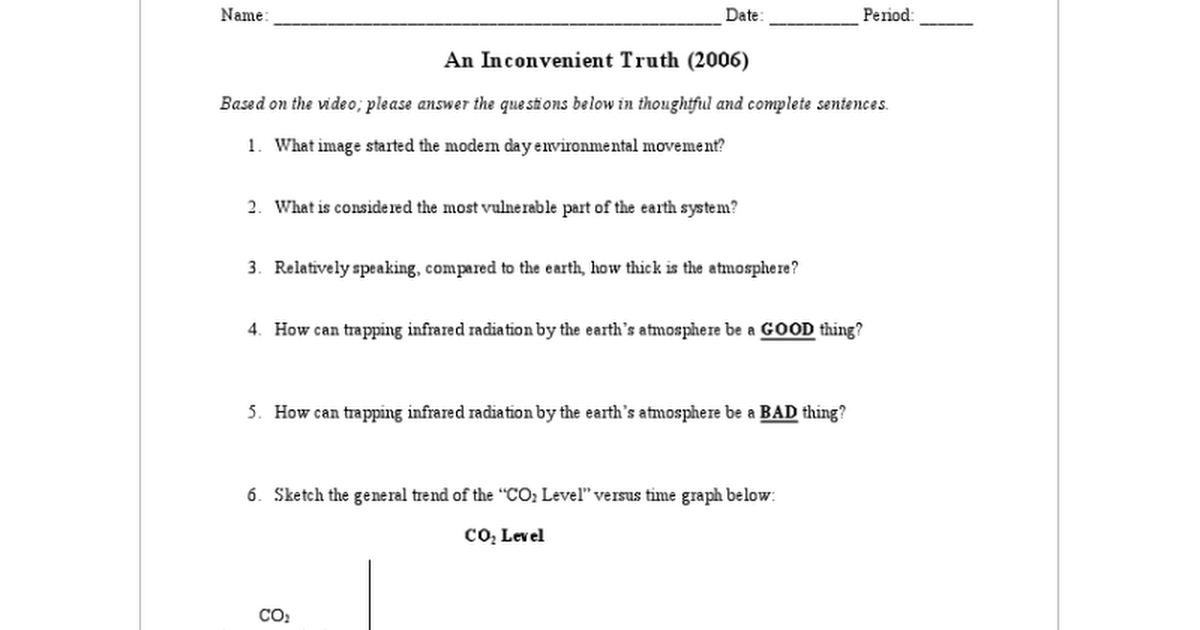 Worksheets An Inconvenient Truth Worksheet Answers unit 5 an inconvenient truth sheehan pdf google docs
