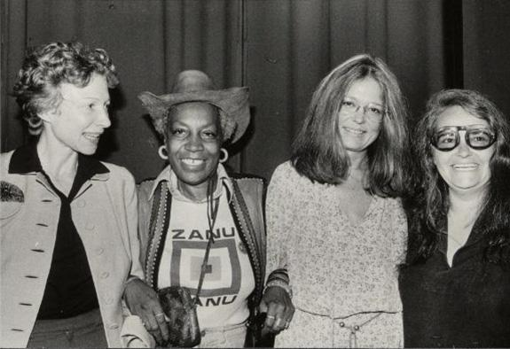 Matriarchy conference with Ti-Grace Atkinson, Flo Kennedy, Gloria Steinem, and Kate Millett, 1977