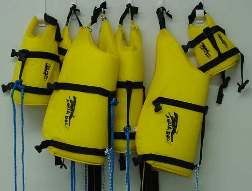 Examples of flotation devices for dogs
