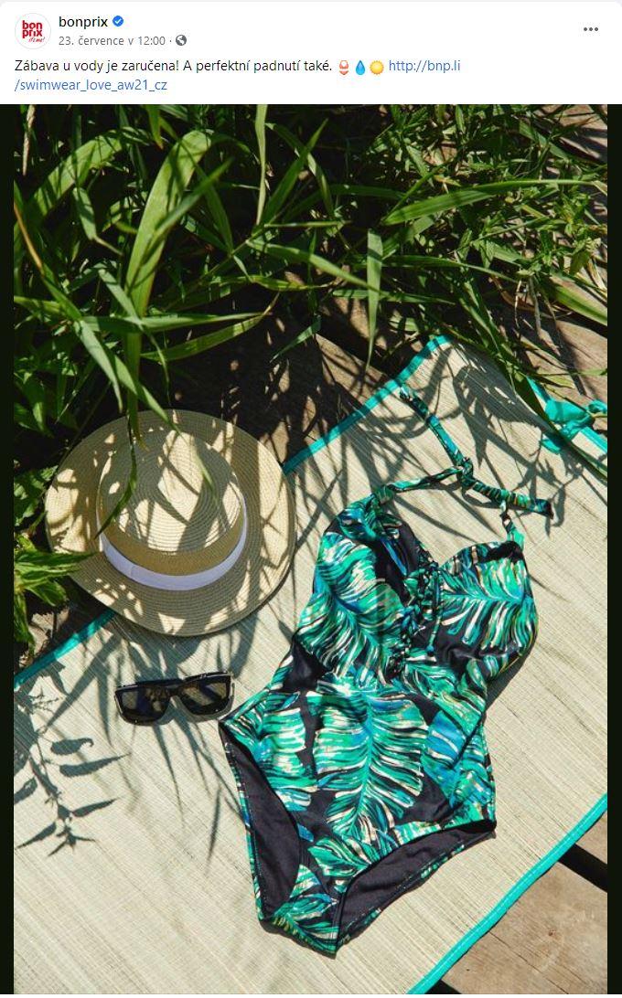 Bonprix: dámské plavky jednodílné