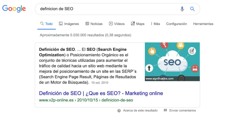 ejemplo búsqueda Google