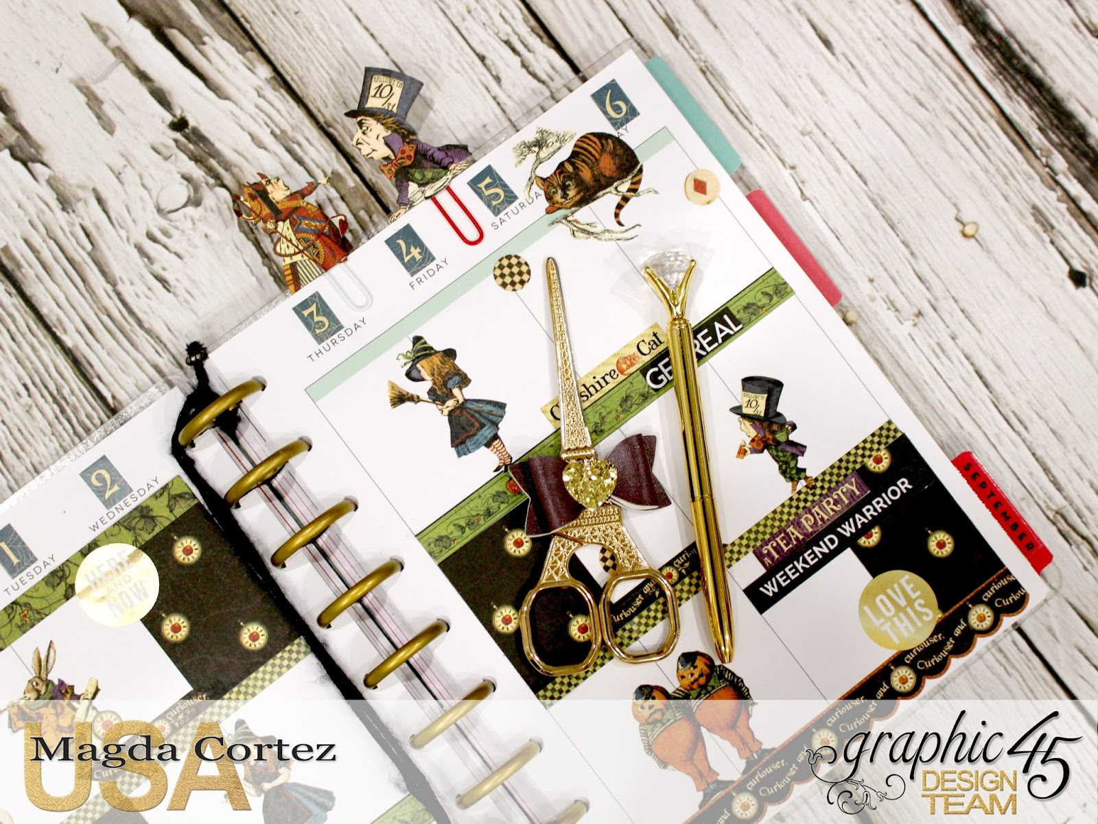 07. My G45 Planner August, Alice in Wonderland By Magda Cortez, Product By Graphic 45, Photo 07 of 26.jpg