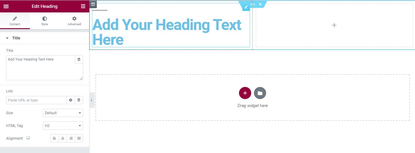 Tampilan input elemen text