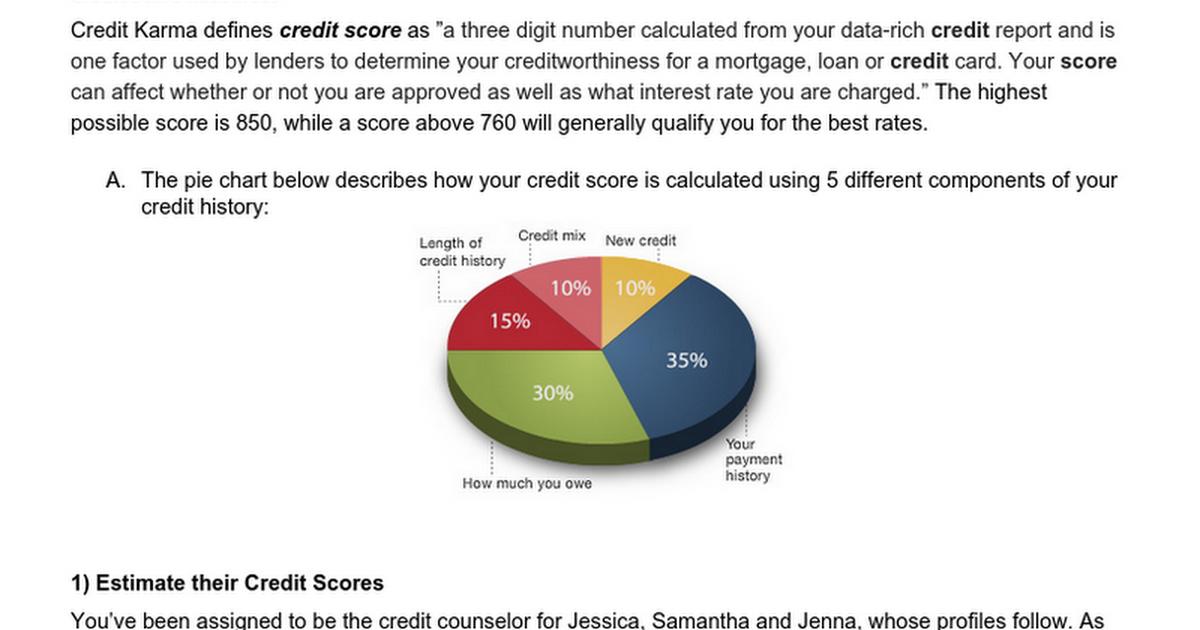 Hw 11 Credit Score Activity Google Docs