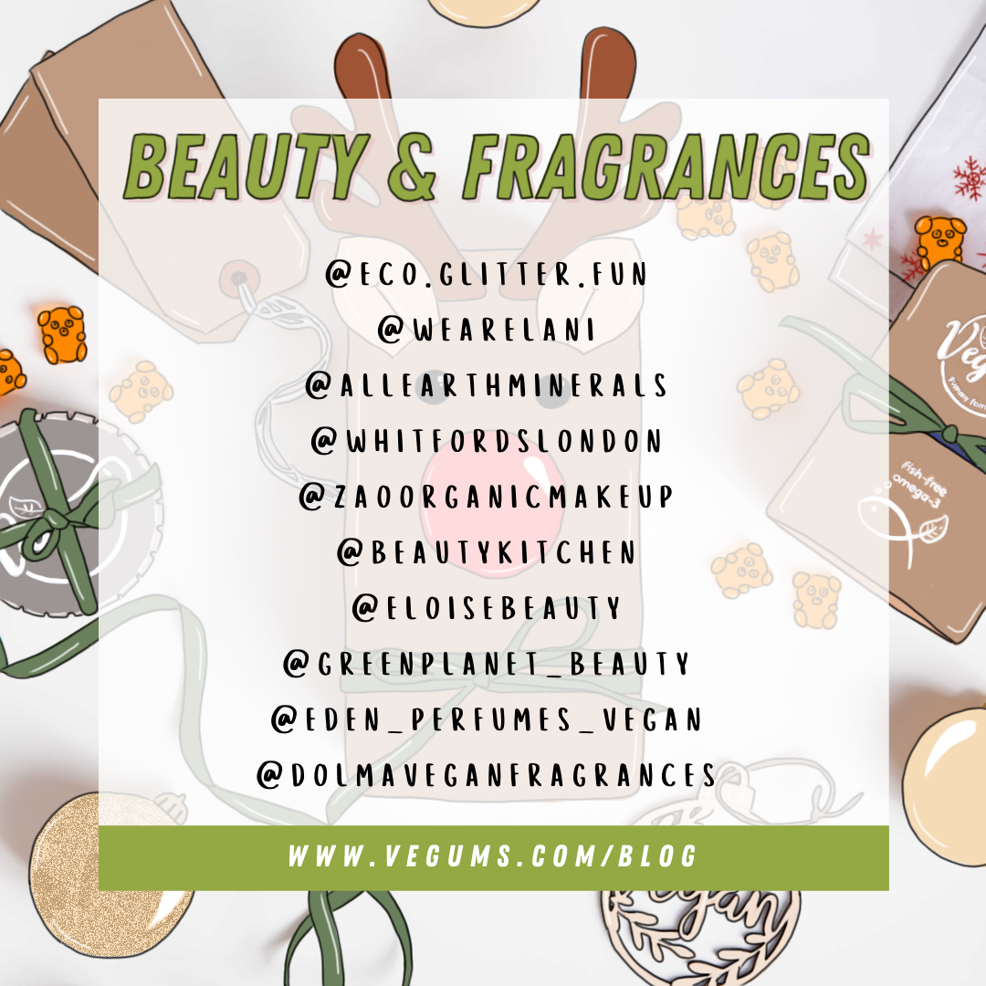 List of small Vegan Beauty & Fragrances businesses that shoppers can support during Christmas