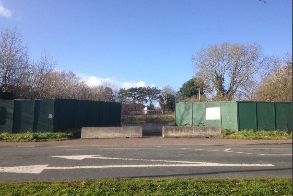 The site off Salterton Road in Exmouth.