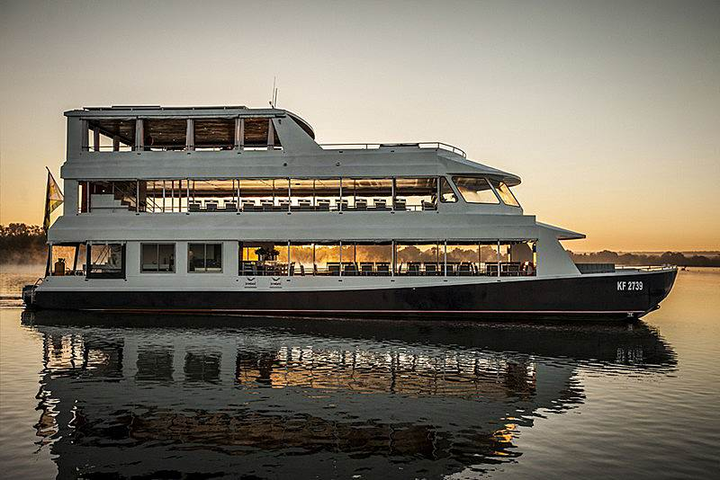 cruise boat on the Zambezi river