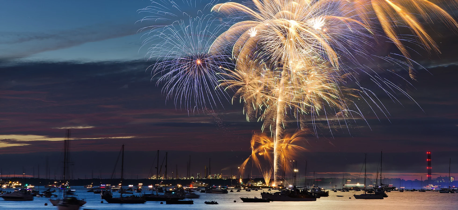 Fireworks at Cowes