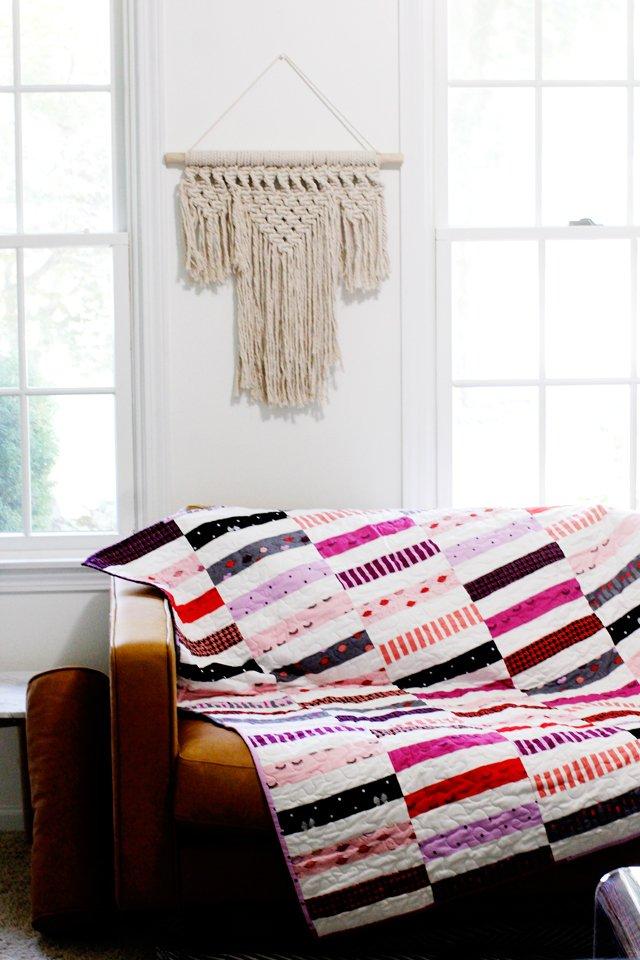 7. Jelly Roll Strip Pattern