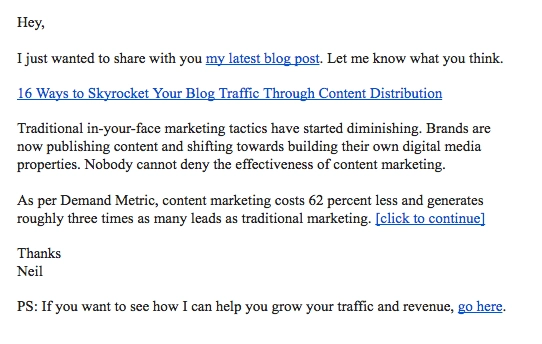 blog post distribution email, content distribution email, wordpress posts to users