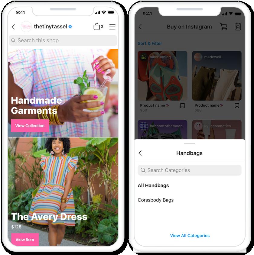 Facebook Instagram Shops S-Commerce