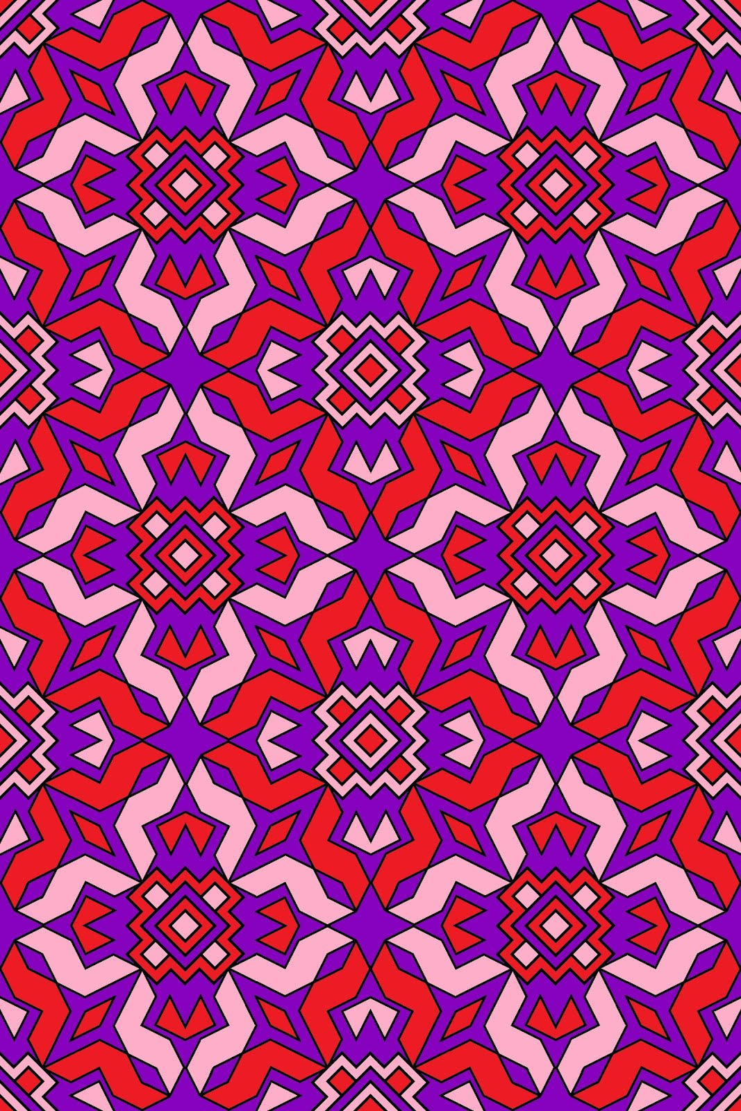 amazing abstract tessalating pattern