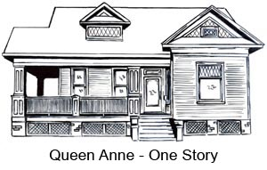 A Queen Anne-style home typical of the Houston Heights