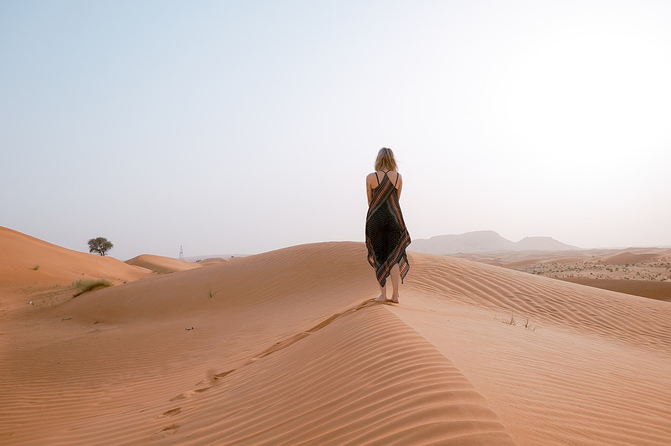 girl in a desert