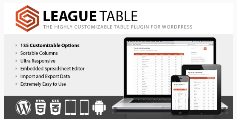 Best alternative table plugins to WP Table Builder
