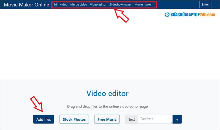 Trang web Movie Maker Online