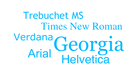 System fonts comparison.