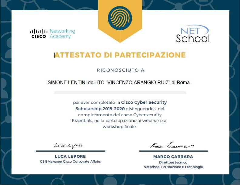 Attestato Lentini