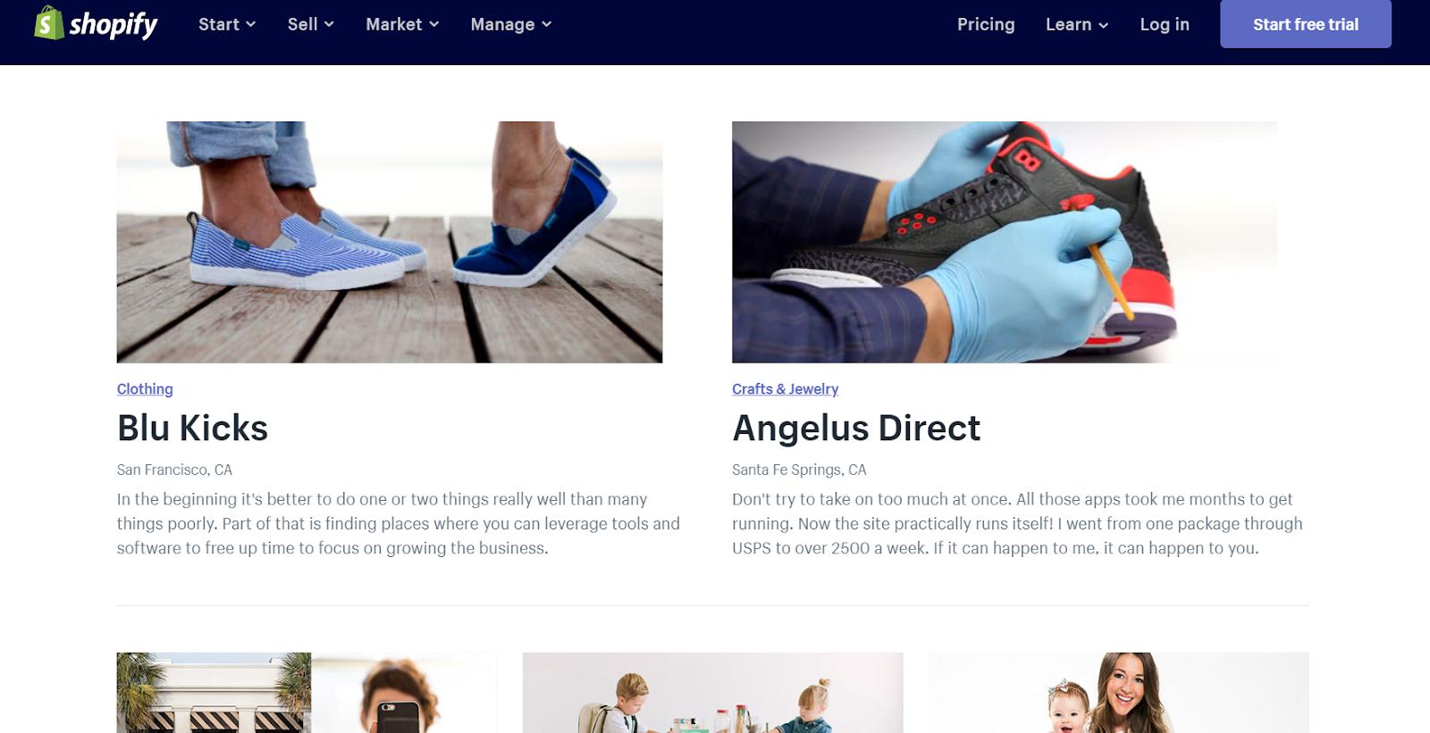 Shopify Testimonial Page