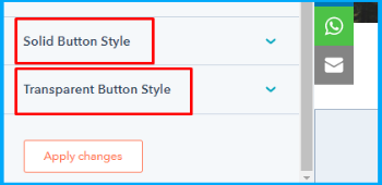HubSpot cta button options