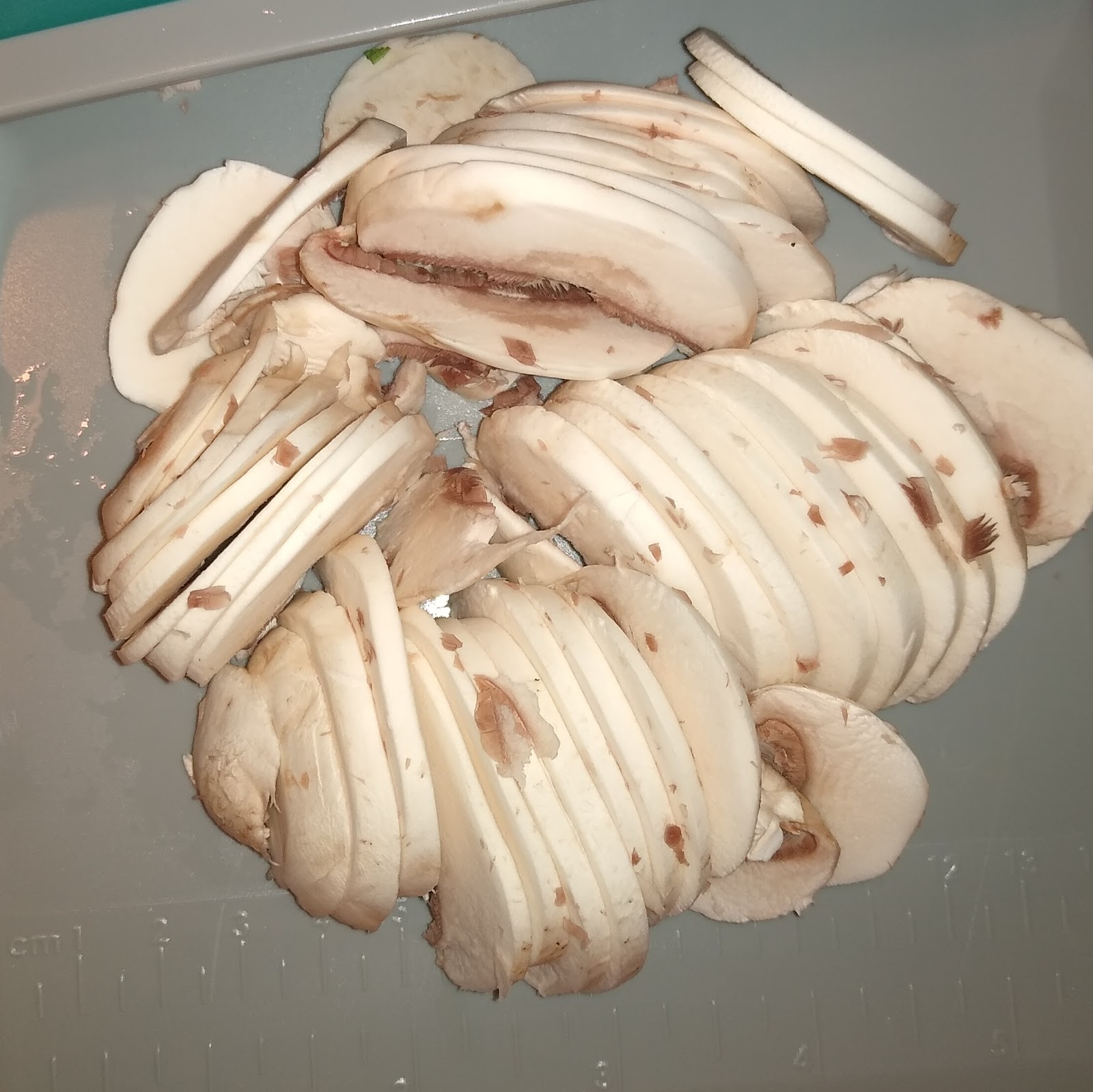 sliced mushrooms.