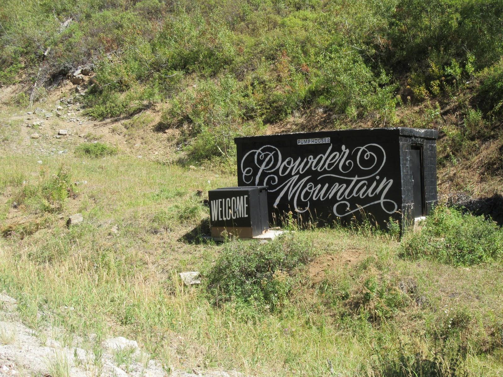Powder Mountain entrance sign