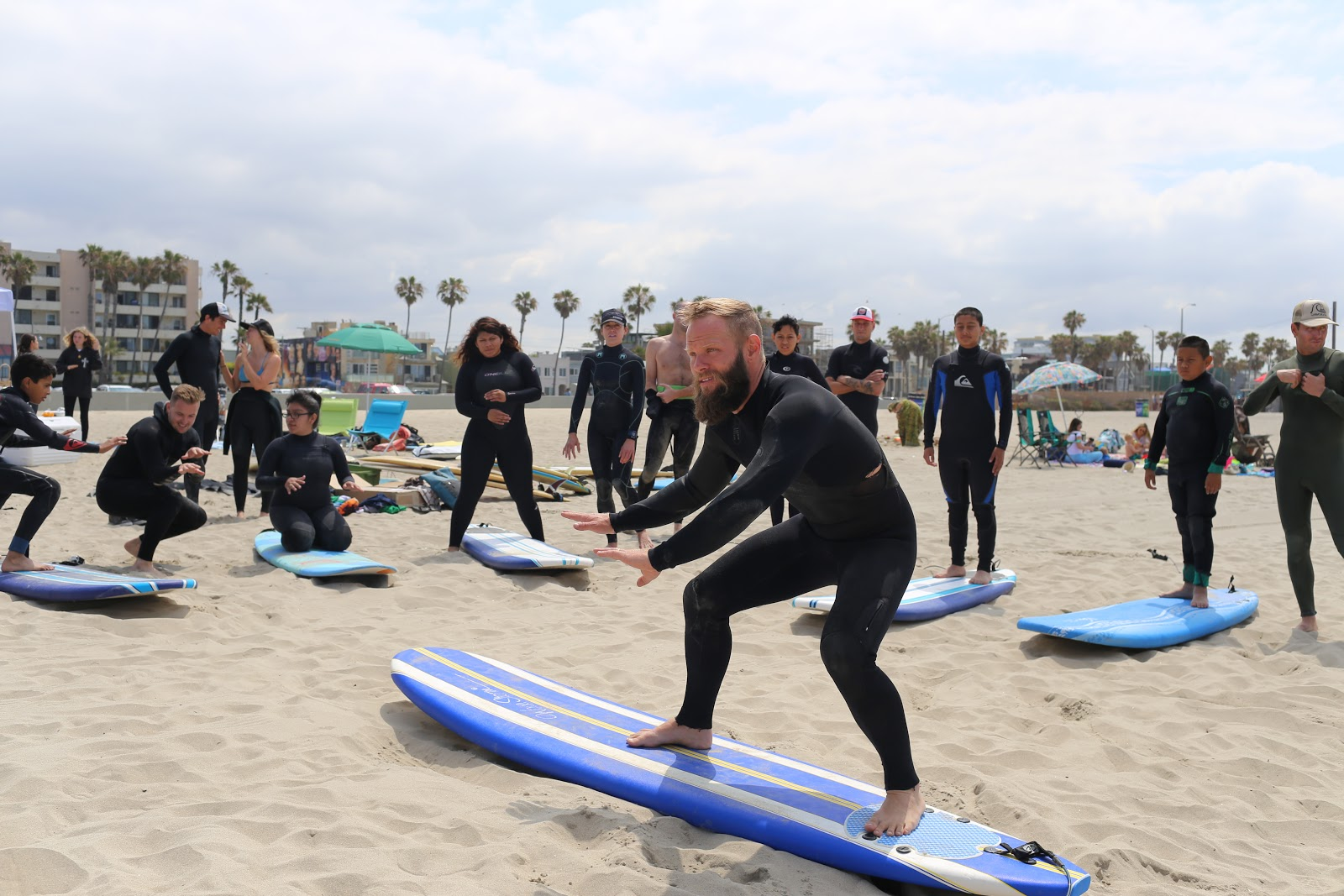 stokeshare-ambassador-jared-yore-teaching-LAPD-cadets-surfing