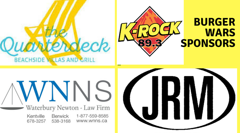 The Quarterdeck is proving the grand prize for the Burger War Passport winner, Waterbury Newton Law firm is sponsoring our K-Rock ads and JR Mahoney in Sydney is providing a prize to the winning chef and K-Rock 89.3 is our media sponsor!