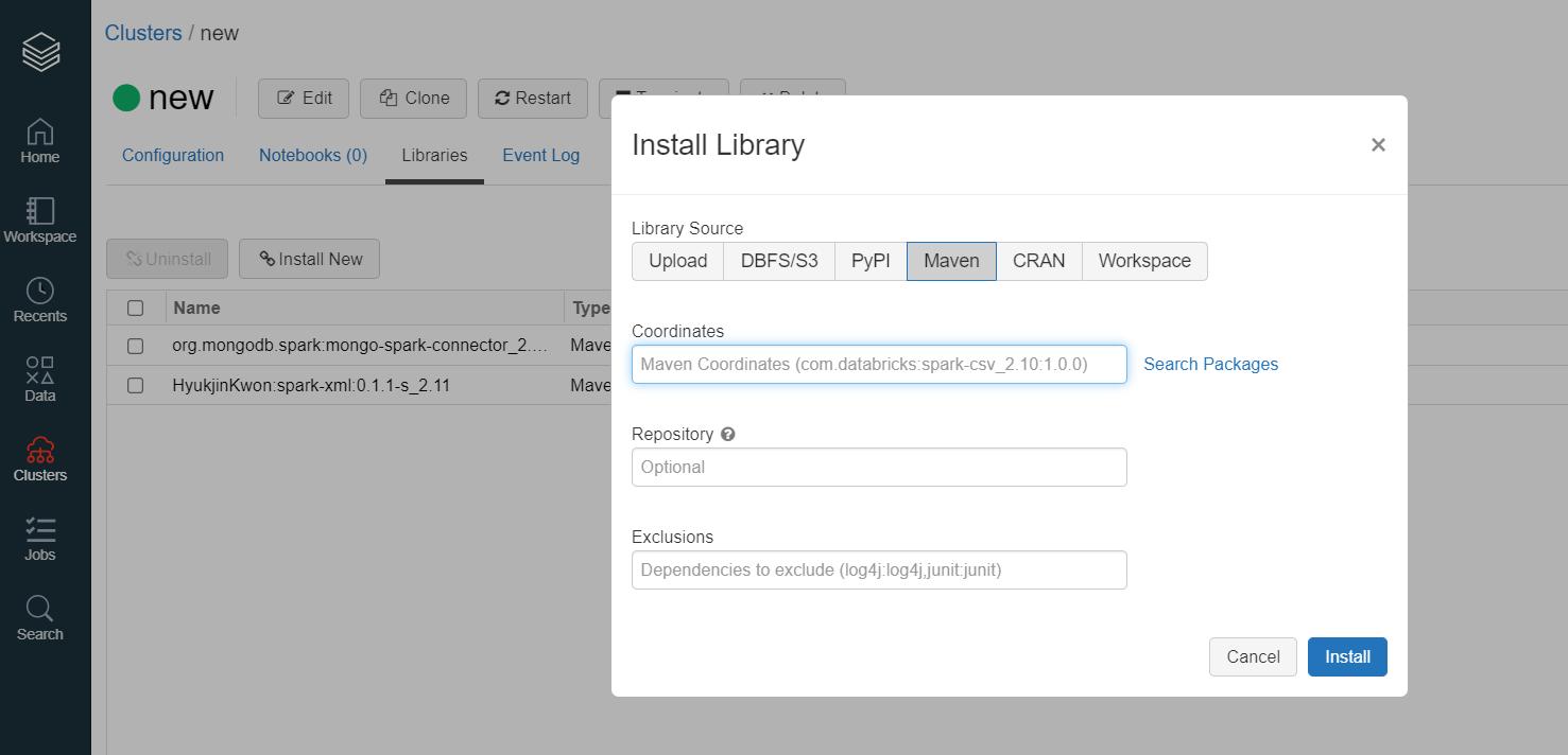 connect databricks and MongoDB Atlas step 1
