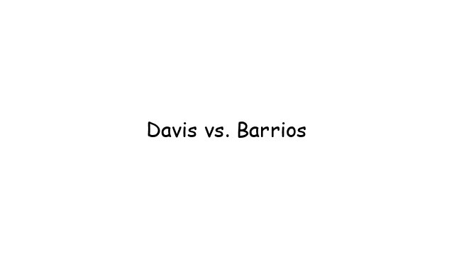 Boxing: Davis vs. Barrios