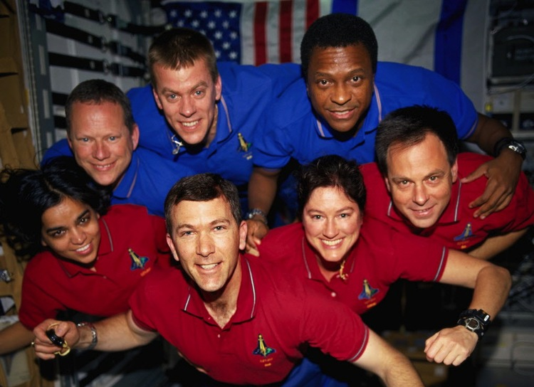 The multinational crew of the Columbia STS-107 tragedy was one of the most diverse in NASA's history. Image by NASA.