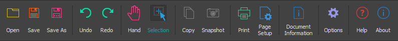 Slim PDF Reader main toolbar