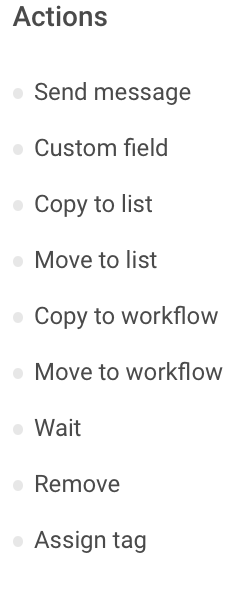 aweber vs getresponse list clafficiation actions