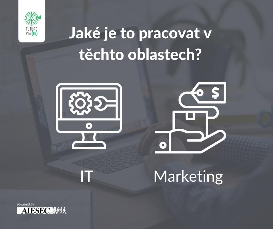 grafické znázornění práce v IT a marketingu