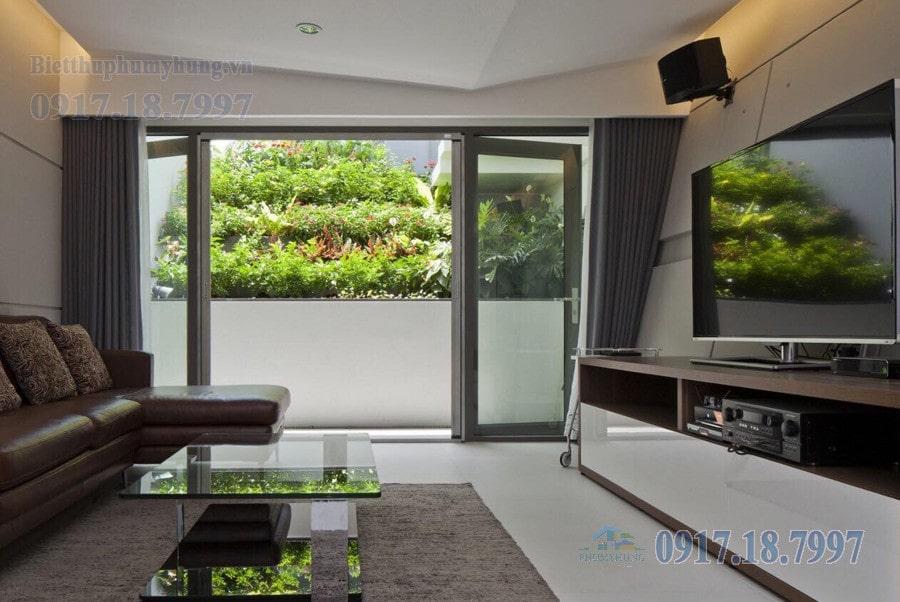 Không gian xanh trong căn biệt thự