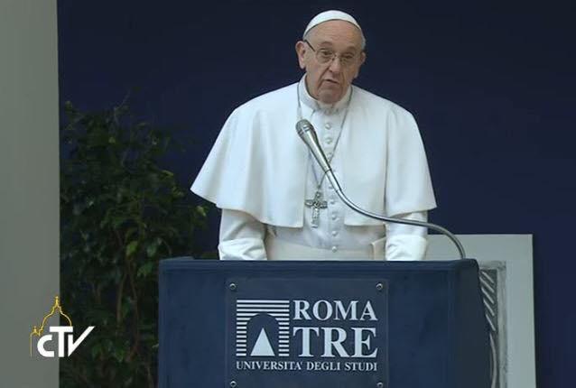 Văn bản bài nói chuyện của Đức Thánh Cha gửi các sinh viên Đại học Roma Tre