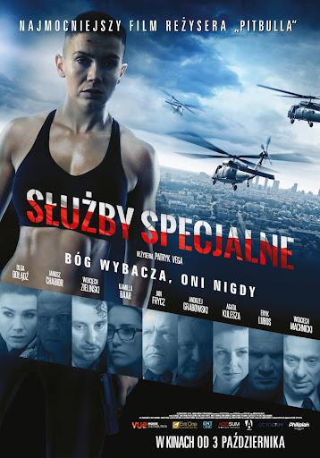 Polski plakat filmu 'Służby Specjalne'