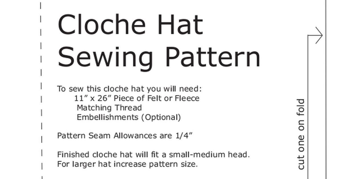 cloche hat sewing pattern.pdf - Google Drive